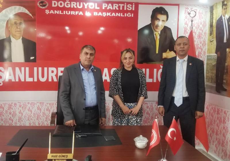 Urfa Çağdaş Medya Grubu'ndan DYP İl Başkanı Güneş'e ziyaret