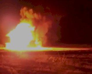 Urfa'da gece saatlerinde korkutan yangın!