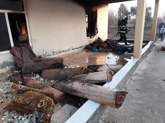 Urfa'da taziye evi yandı