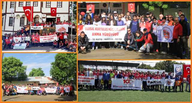 Urfadosk'lu Dağcılar Samsun'daki Ulusal Yürüyüşe Katıldılar.