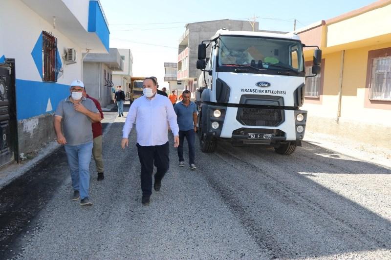 Viranşehir'de asfaltlama devam ediyor