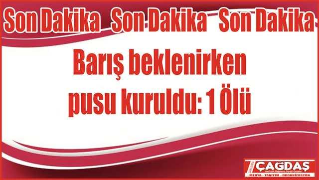 Viranşehir'de kanlı pusu: 1 ölü
