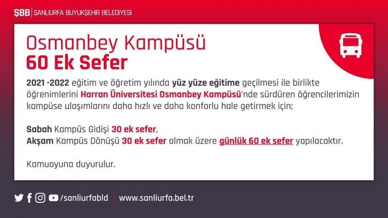 Osmanbey Kampüsüne 60 ek sefer düzenlenecek