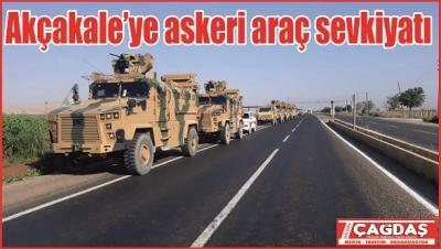 Akçakale'ye askeri araç sevkiyatı
