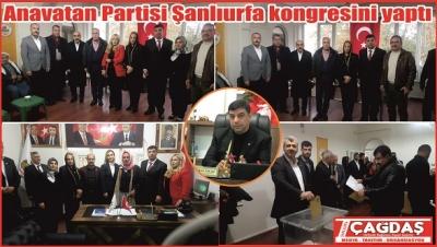 Anavatan Partisi Şanlıurfa'da yönetimi belirledi