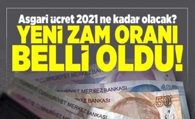 Asgari ücret 2 bin 825 lira oldu