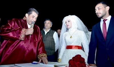Atilla genç çiftçin nikahını kıydı