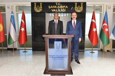 Bangladeş Ankara Büyükelçisi Mannan, Şanlıurfa Valiliği'ni Ziyaret Etti