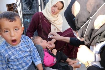 Barış Pınarında çocuklar aşılanıyor