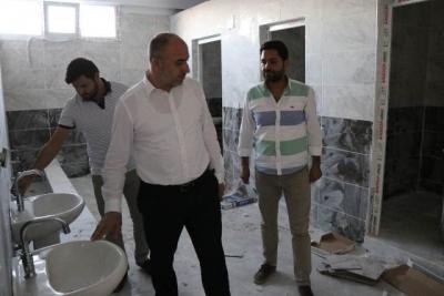 Başkan Aksoy devam eden projeleri denetledi