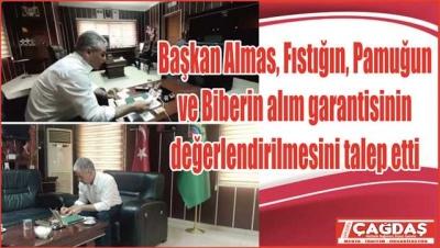 Başkan Almas, tarım sıkıntılarını dile getirdi