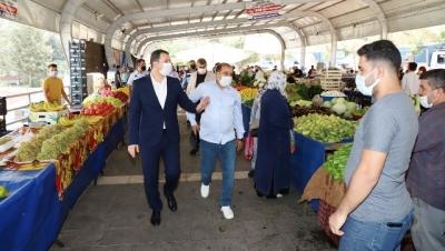 Başkan Baydilli'den Pazar Esnafına Ziyaret