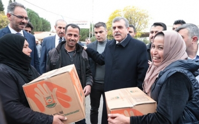 Başkan Beyazgül, Tel Abyad'da