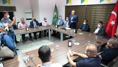 Başkan Beyazgül'den Şanlıurfaspor Yönetimine Ziyaret
