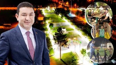 Başkan Özyavuz'un Harran'a kazandırdığı yeşil alanlar cıvıl cıvıl