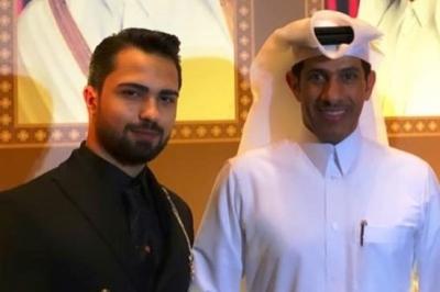 Efe Gazi Subaşı, Katar'ın Ankara Büyükelçisi Salim Bin Mübarek Al Şafi ile bir araya geldi