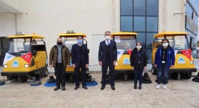 Eyyübiye Belediyesi, filoya 5 yeni araç daha kattı.