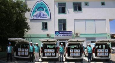 Eyyübiye'de yardıma muhtaç vatandaşların yüzü gülüyor