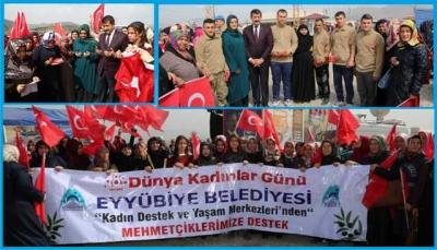 Eyyübiyeli kadınlar sınırda Mehmetçikle buluştu
