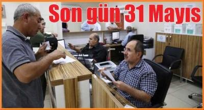 Haliliye belediyesi: son gün 31 Mayıs