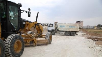 Haliliye'de yol yapımı tüm hızıyla sürüyor