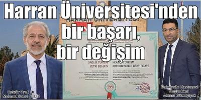Harran Üniversitesi'nden bir başarı, bir değişim