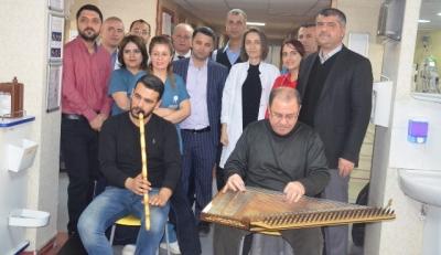 Hastalara müzikli tedavi