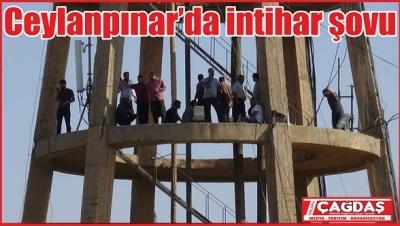 İşten atılan işçiler su kulesine çıktı
