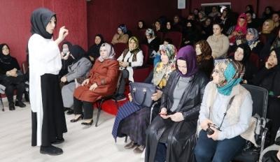 Kadınlara stres yönetimi semineri verildi- GÖRÜNTÜLÜ-