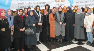 Kadınlardan yerli üretime destek.