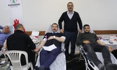 Karaköprü belediyesi'nden kan bağışına destek