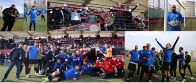 Karaköprü Belediyesporlu futbolculardan taraftarlara çağrı;