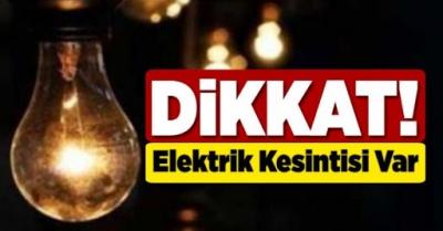 Karaköprü ve Haliliye'de yarın elektrikler kesilecek