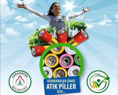 Karaköprü'de Atık Piller Geri Dönüşüme Kazandırılıyor