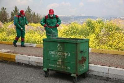Karaköprü'de ilaçlama çalışmaları sürüyor