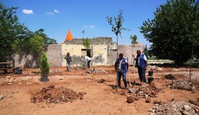 Karşıyaka mahallesinde yeni park çalışması