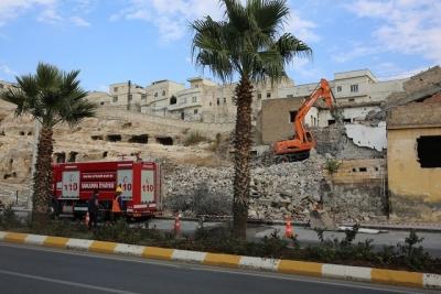 Kızılkoyun'da yıkım çalışmaları sürüyor