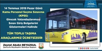 KPSS'ye girecek öğrencilere otobüs ücretsiz