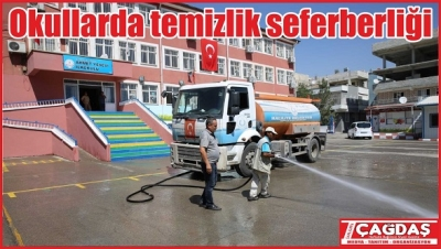 Okullarda temizlik seferberliği