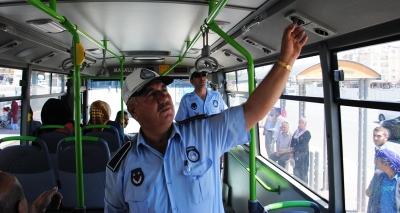 Otobüs klimaları denetlendi