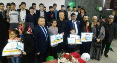 Sağlıklı nesil sağlıklı gelecek yarışması ödül töreni