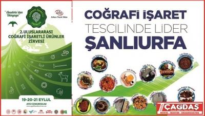 Şanlıurfa, 2. uluslararası coğrafi işaretli ürünler zirvesi'ne 27 ürünle katılıyor