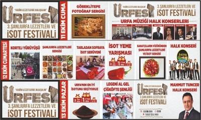 'Şanlıurfa Lezzetleri ve İsot Festivali' devam ediyor