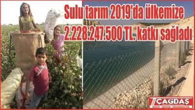 Şanlıurfa'da 304 bin 033 hektar alan Tarım Arazisi Sulandı