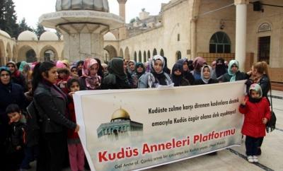 Şanlıurfalı kadınlar İsrail ve Amerika'yı protesto etti