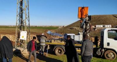 Şanlıurfa'nın Karatepe köyünde elektrik panosu yenilendi