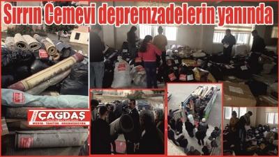 Sırrın Cemevi'nden depremzedelere yardım