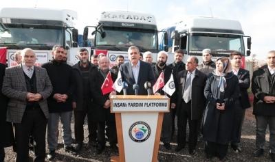 Suriye halkına 3 tır dolusu yardım daha yola çıktı