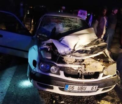 Takla atan araçta 1 ölü, 2 yaralı