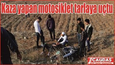Ticari araç ile  motosiklet çarpıştı 1 yaralı